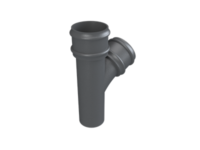 Cast Iron No46 Round Downpipe 112 Deg Y Junction-Primed