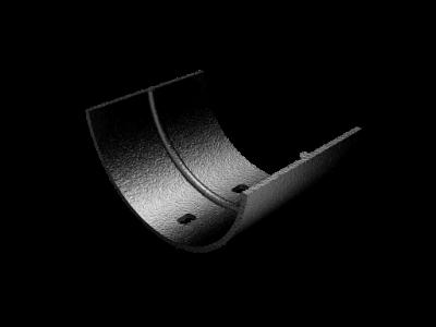 Cast Aluminium Plain Half Round Union