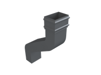 Cast Iron No46 Rectangular Downpipe 12 Inch Swanneck-Primed