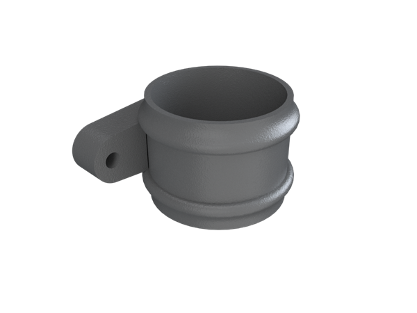 Cast Iron No46 Round Downpipe Lose Socket (eared)-Primed