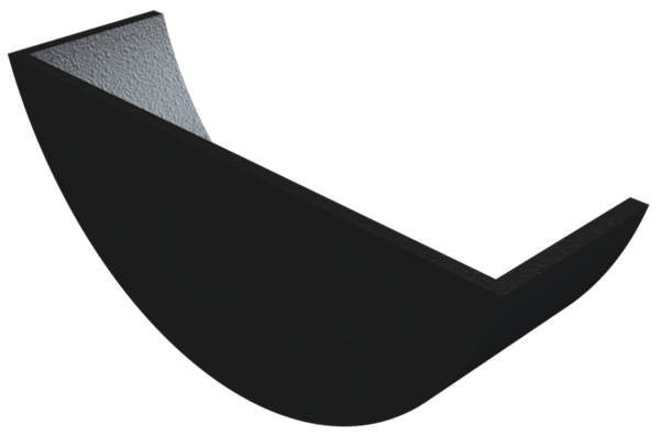 Cast Iron Plain Half Round Stopend Internal-Painted
