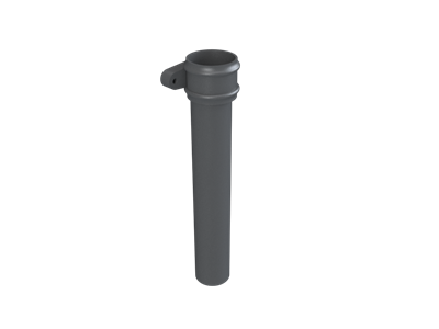 Cast Iron No46 Round Downpipe Length (with ears)-Primed