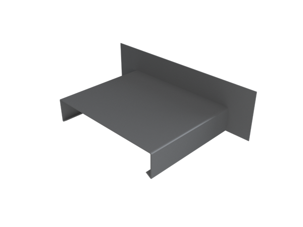 Pressed Aluminium Wall Coping Abutment Stopend