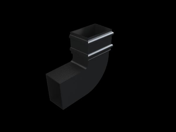 Cast Iron Rectangular Downpipe 92 Deg LH Bend-Painted