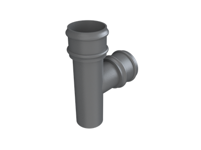 Cast Iron No46 Round Downpipe 92 Deg Y Junction-Primed