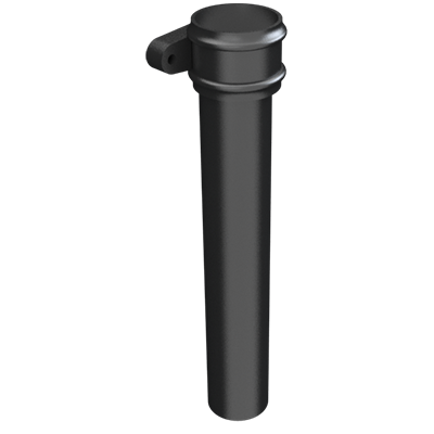 Cast Iron Round Downpipe Length (with ears)-Painted- web