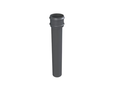 Cast Iron No46 Round Downpipe Length (plain)-Primed
