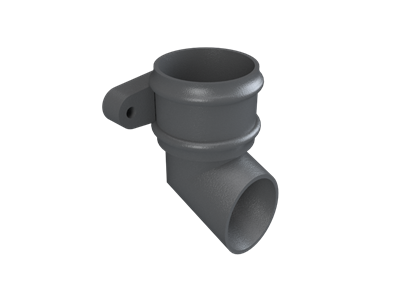 Cast Iron No46 Round Downpipe Shoe (eared)-Primed