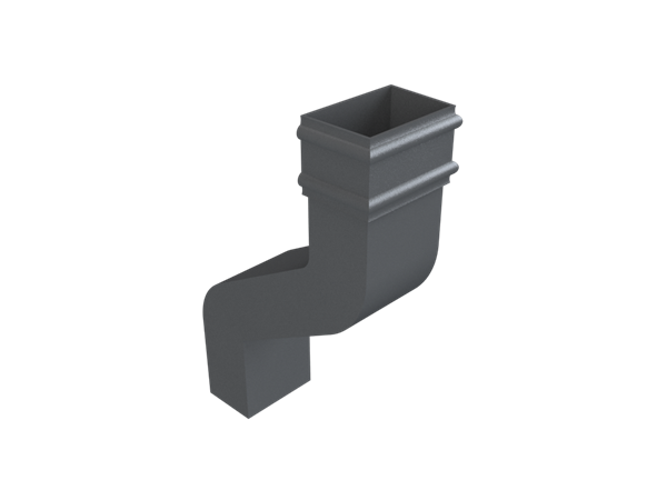 Cast Iron No46 Rectangular Downpipe 9 Inch Swanneck-Primed