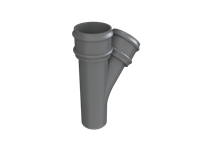 Cast Iron No46 Round Downpipe 135 Deg Y Junction-Primed