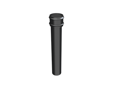 Cast Iron Round Downpipe Length (plain)-Painted