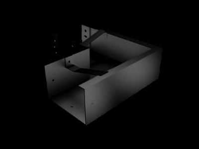 Pressed Aluminium Joggle Joint Box Gutter 90 Deg Ext Angle