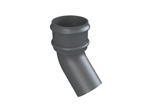 Cast Iron No46 Round Downpipe 135 Deg Bend-Primed