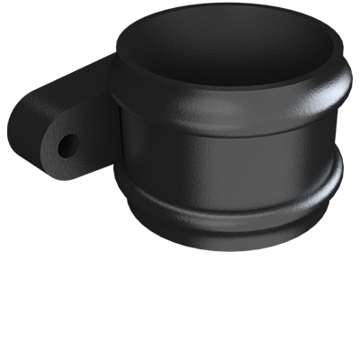 Cast Iron Round Downpipe Lose Socket (eared)-Painted- web