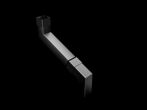 Aluminium Downpipe-Square 2 Part Swaged Offset