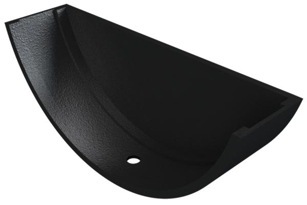 Cast Iron Plain Half Round Stopend External-Painted