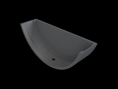 Cast Iron Plain Half Round Stopend External-Primed