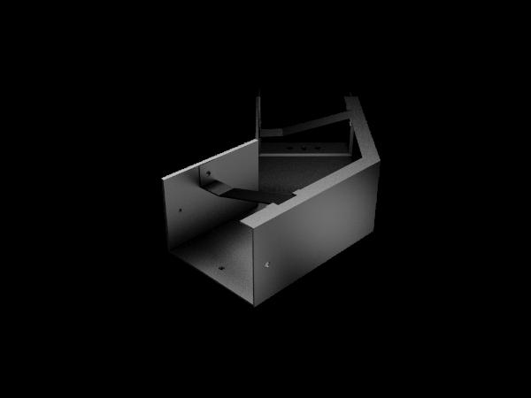Pressed Aluminium Joggle Joint Box Gutter 135 Deg Ext Angle