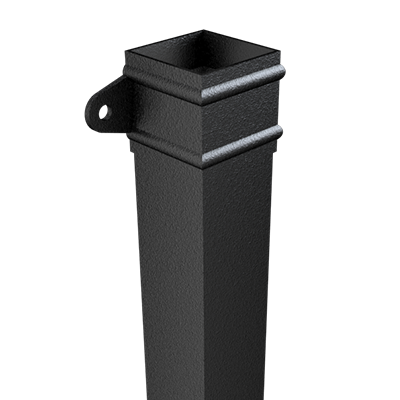Product Thumbnail image - Square Extruded Aluminium Cast Eared Pipe