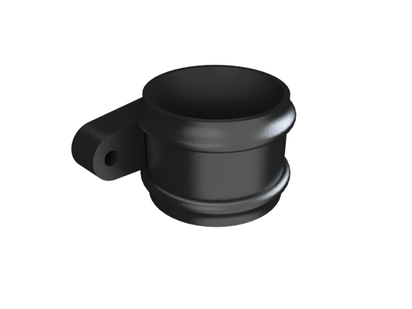 Cast Iron Round Downpipe Loose Socket (eared)-Painted