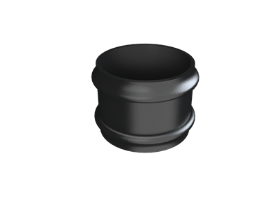 Cast Iron Round Downpipe Loose Socket (plain)-Painted